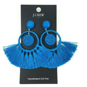 J Crew Cabana Beaded Tassel Lightweight Earrings